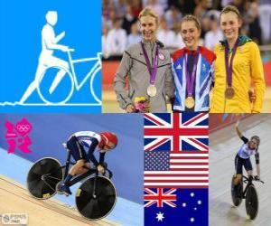 Układanka Rowerze omnium kobiet Londyn 2012