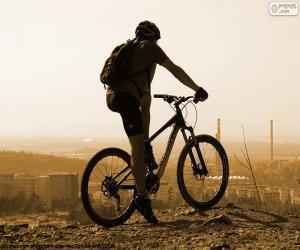 Układanka Rowerzysta rowerów górskich