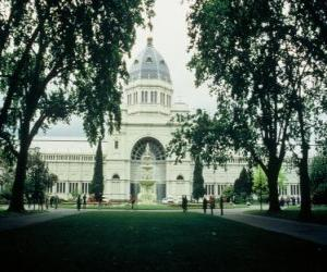 Układanka Royal Exhibition Building i Carlton Gardens, zaprojektowany przez architekta Józefa Reed. Australia