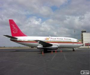 Układanka Royal Khmer Airlines została aeroliniea w Kambodży (2000-2004)