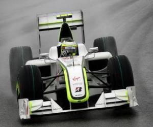 Układanka Rubens Barrichello pilotowanie jej F1