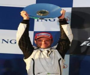 Układanka Rubens Barrichello w podium
