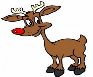 Układanka Rudolf, czerwony reindee nosa