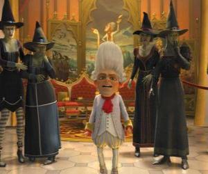 Układanka Rumpelstiltskin jest królem z witch ejérctio zamówień