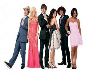 Układanka Ryan Evans (Lucas Grabeel), Sharpay Evans (Ashley Tisdale), Troy Bolton (Zac Efron), Gabriella Montez (Vanessa Hudgens), Chad (Corbin Bleu), Taylor (Monique Coleman), bardzo elegancki