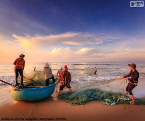 Układanka Rybaków w Wietnamie