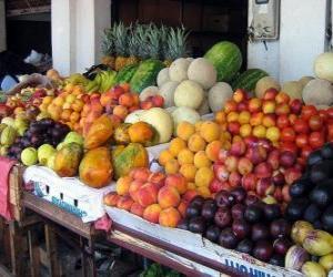 Układanka Rynek owoców