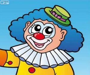 Układanka Rysowanie twarzy klauna