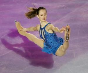 Układanka Rysunek łyżwiarka figurowa jazda na łyżwach