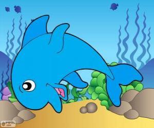 Układanka Rysunek delfina
