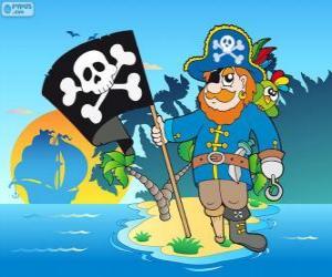 Układanka Rysunek kapitana piratów