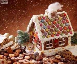 Układanka Słodkie i piękne świąteczne ozdoby, piernika