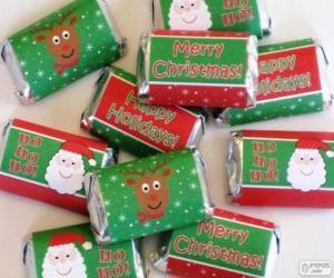 Układanka Słodyczy na Boże Narodzenie