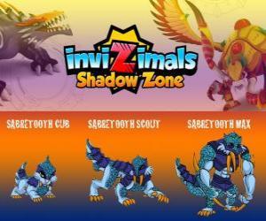 Układanka Sabretooth Cub, Sabretooth Scout, Sabretooth Max. Invizimals Następny wymiar. Strażnika parku, który marzy o zostaniu superbohaterem