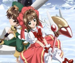 Układanka Sakura i Syaoran Li, potomkiem Clow Reed, kreator, który stworzył Clow karty