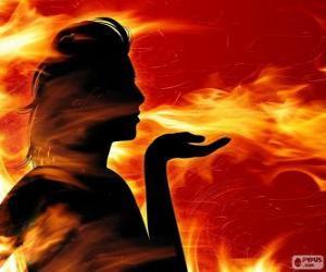 Układanka Salamandry, wróżka ognia