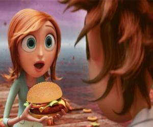 Układanka Sam Flint zaskoczony uczy hamburger