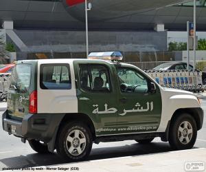 Układanka Samochód policyjny Dubai