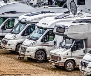 Układanka Samochodów kempingowych i kamperów
