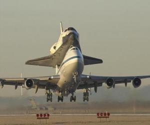 Układanka Samolot wahadłowiec kosmiczny