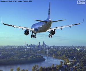 Układanka Samolot z dotarciem do miejsca przeznaczenia