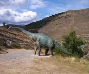Układanka Samotny dinozaur