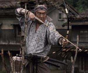Układanka Samurai strzelanie łuk