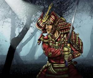 Układanka Samurai z tradycyjnych strojów
