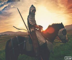 Układanka Samuraj na koniu