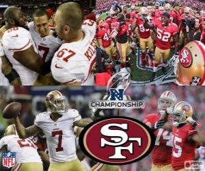 Układanka San Francisco 49ers NFC mistrz 2012