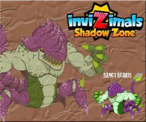 Układanka Sanctacaris. Invizimals Następny wymiar. Pierwszy dinozaur, który wykorzystuje swoje ręce i przeciwstawić się