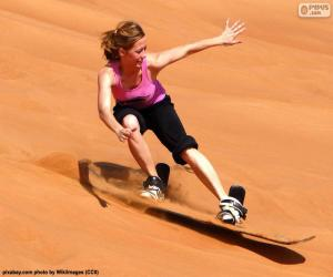 Układanka Sandboarding