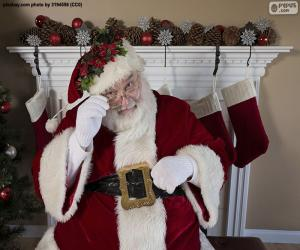 Układanka Santa Claus, kominek