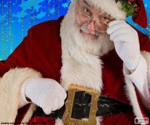 Układanka Santa Claus obserwowane