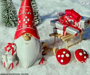 Układanka Santa Claus, ozdoba