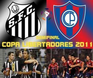 Układanka Santos FC - Cerro Porteño. Copa Libertadores 2011 Półfinał