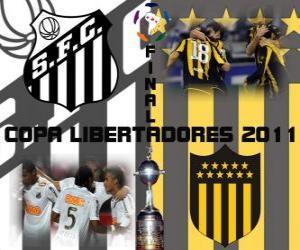 Układanka Santos FC - Peñarol Montevideo. Final Copa Libertadores 2011