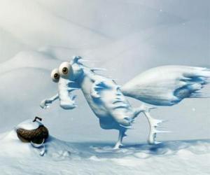 Układanka Scart, lód z żołędzi