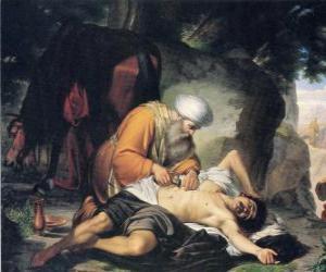 Układanka Scena z przypowieści o dobrym Samarytaninie