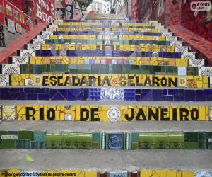Układanka Schody Selarón, Brazylia
