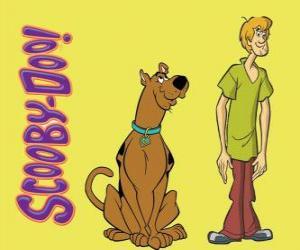 Układanka Scooby Doo i Shaggy, dwóch przyjaciół