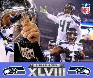 Układanka Seattle Seahawks, Super Bowl 2014 Mistrzów