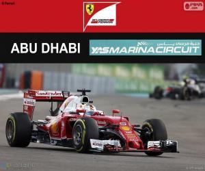 Układanka Sebastian Vettel, Grand Prix Abu Zabi 2016