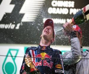 Układanka Sebastian Vettel w podium