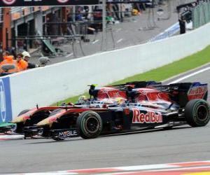 Układanka Sebastien Buemi, Jaime Alguersuari - Toro Rosso - Spa-Francorchamps 2010