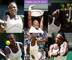 Układanka Selena Williams 2010 Wimbledon Champion
