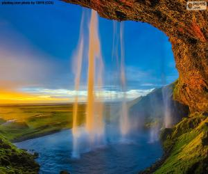 Układanka Seljalandsfoss, Islandia