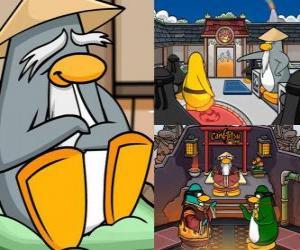 Układanka Sensei jest bardzo mądrym życia pingwin w Dojo i uczy ich pingwiny ninja
