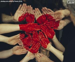 Układanka Serce w ręce