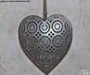 Układanka Serce z metalu